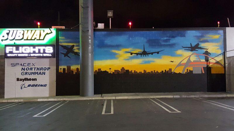 Outdoor Billboard - Flights Craft Beers + Sports + Grill (Hawthorne)