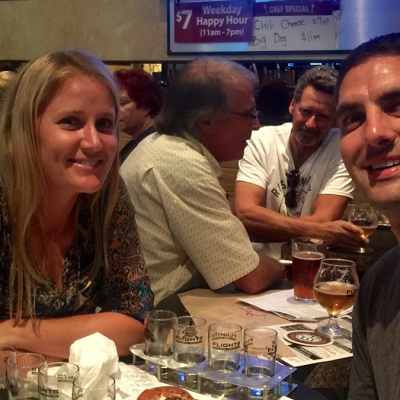 Having fun at Flights Beer Bar - South Bay